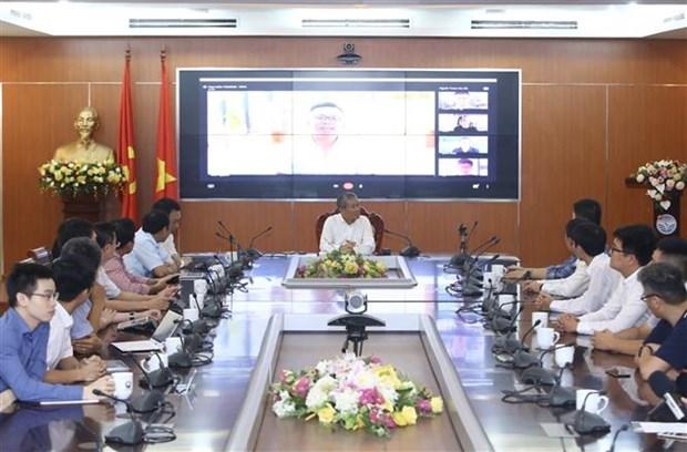 Lancement de la premiere plate-forme de visioconference du Vietnam hinh anh 1