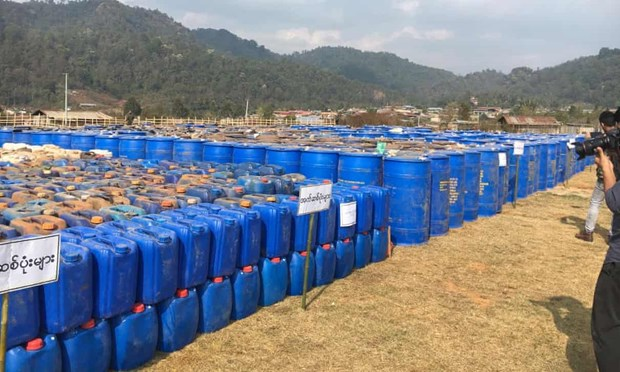 Le Myanmar opere une saisie record des drogues de synthese hinh anh 1