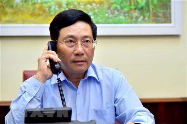 Vietnam-Italie : conversation telephonique entre Pham Binh Minh et Luigi Di Maio hinh anh 1