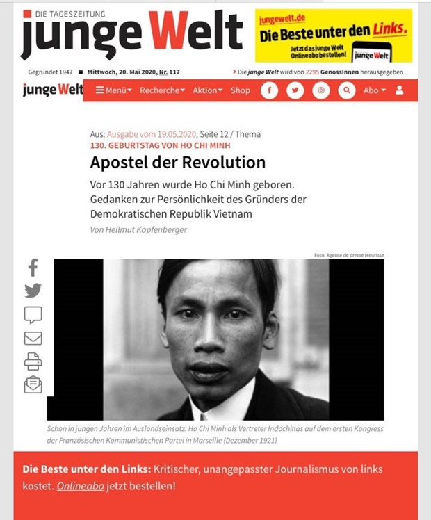 La presse allemande et cubaine parle de Ho Chi Minh hinh anh 1