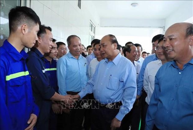 Le PM rencontre des travailleurs de la mine de charbon de Ha Lam hinh anh 1