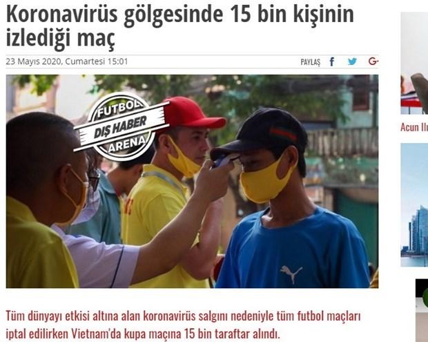 Qu'ont dit les medias internationaux sur la reprise du championnat vietnamien de football? hinh anh 1