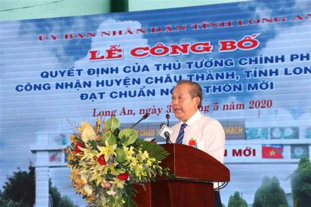 Long An a son premier district aux normes de la Nouvelle Ruralite hinh anh 1