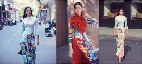 """Le """"ao dai"""" vietnamien s'inspire des patrimoines et des paysages hinh anh 1"""