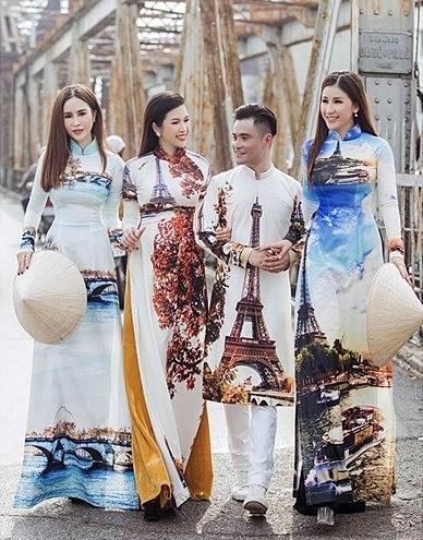 """Le """"ao dai"""" vietnamien s'inspire des patrimoines et des paysages hinh anh 2"""