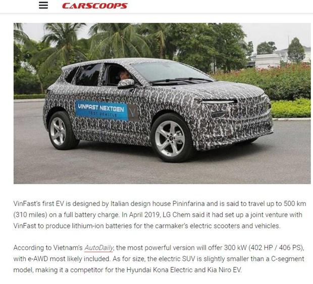 Un site automobile americain impressionne par l'ambition de Vinfast d'exporter des voitures electriques hinh anh 1