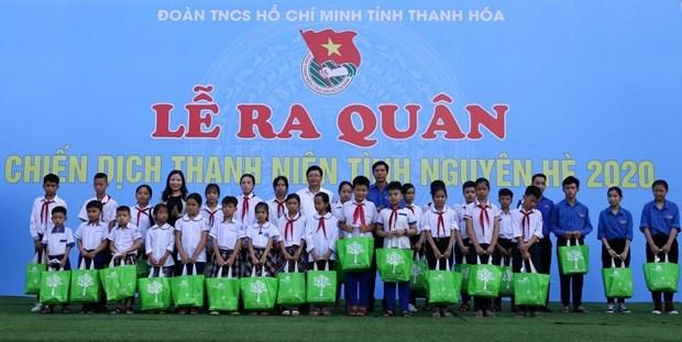 Plus de 1.000 jeunes de Thanh Hoa se joignent a la campagne de benevolat d'ete hinh anh 1