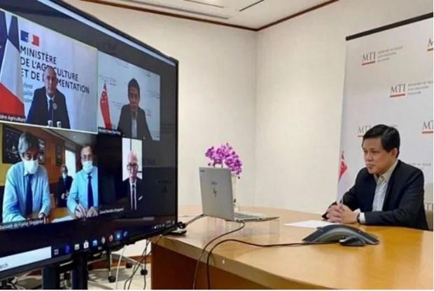 Coronavirus: Singapour et la France conviennent de maintenir les chaines d'approvisionnement hinh anh 1