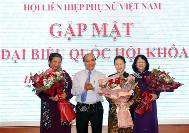 Le PM et la presidente de l'AN rencontrent des femmes deputees hinh anh 1