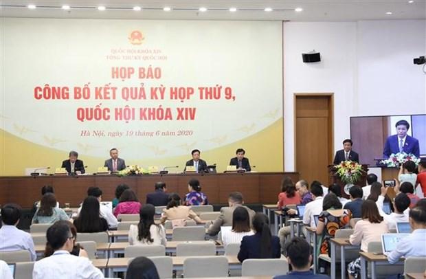 Conference de presse sur la 9e session de l'Assemblee nationale hinh anh 1