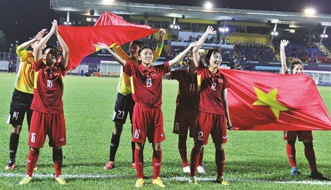 L'attaquante Huynh Nhu, pour l'amour du football feminin hinh anh 1