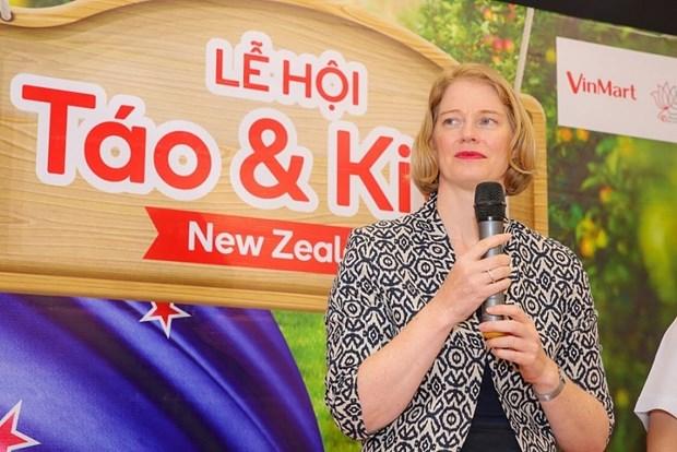Promotion des pommes et kiwis de la Nouvelle-Zelande au Vietnam hinh anh 1