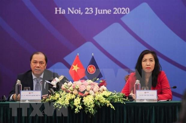 ASEAN 2020: promotion de la construction de la Communaute de l'ASEAN forte hinh anh 1