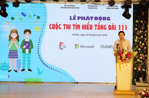 Concours d'etudes sur le central telephonique national pour la protection de l'enfance - 111 hinh anh 1