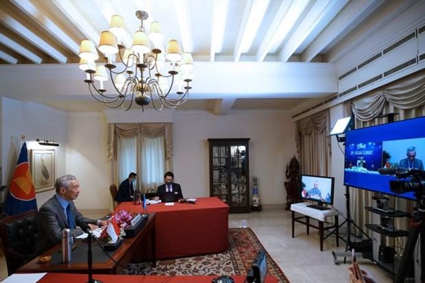 Le PM singapourien appelle a plus de cooperation entre les pays de l'ASEAN hinh anh 1