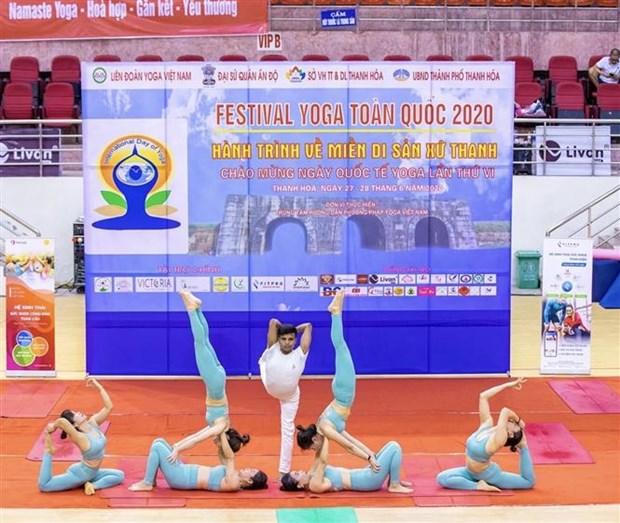 Festival national du Yoga a Thanh Hoa hinh anh 1