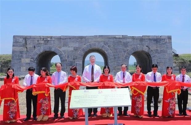Aide americaine pour le projet de conservation de la citadelle de la dynastie des Ho hinh anh 1