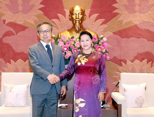 La presidente Nguyen Thi Kim Ngan recoit l'ambassadeur du Japon hinh anh 1
