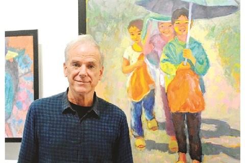 Le peintre americain Dan Hambleton sublime le Vietnam du bout de son pinceau hinh anh 1