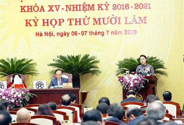 La presidente de l'AN salue les efforts de developpement de Hanoi hinh anh 1