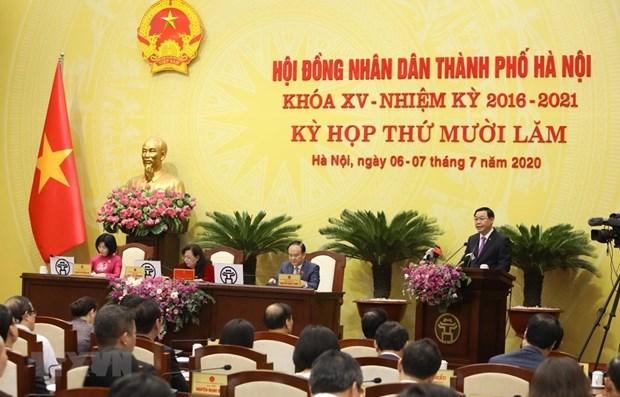Le Conseil populaire de Hanoi discute des mesures pour la relance economique hinh anh 1