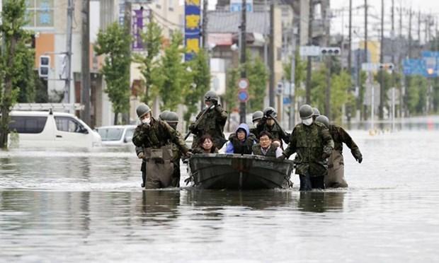 Sympathie envers le Japon suite aux pertes dues aux pluies torrentielles hinh anh 1