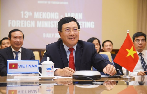 La 13e Conference ministerielle Mekong-Japon discute de la reponse au Covid-19 hinh anh 1