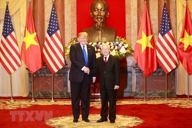 Vietnam et Etats-Unis echangent des felicitations en l'honneur de l'anniversaire de leurs relations hinh anh 1