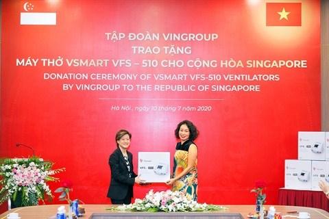 Vingroup offre 1.000 respirateurs a la Russie, l'Ukraine et Singapour hinh anh 1