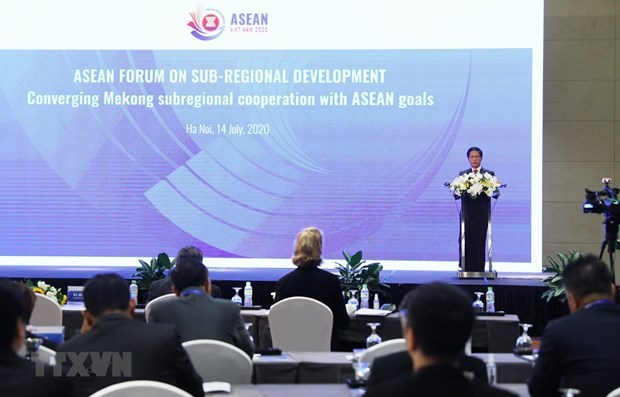 Conference internationale sur les cooperations Mekong-ASEAN a Hanoi hinh anh 1