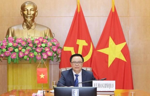 Le Vietnam a une table ronde internationale virtuelle des partis politiques hinh anh 1