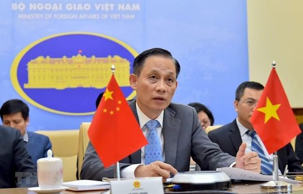 Vietnam-Chine; Les secretaires generaux de Comites de cooperation tiennent une reunion en ligne hinh anh 1