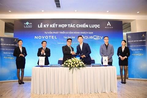 Cooperation entre Novaland et Accor pour exploiter l'hotel Novotel a Aqua City hinh anh 1