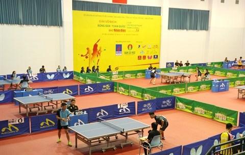 De nombreuses nouveautes au championnat national de tennis de table hinh anh 1