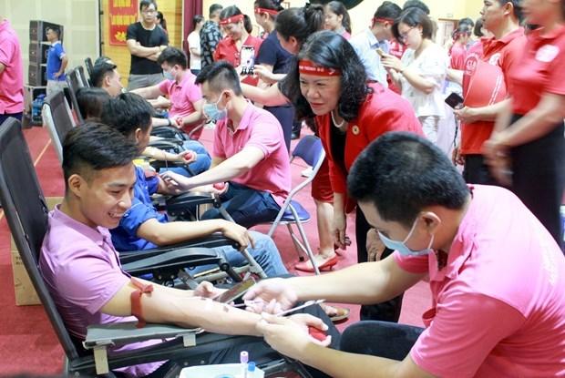 Le programme « Itineraire rouge » arrive a Bac Giang, plus de 570 unites de sang collectees hinh anh 1
