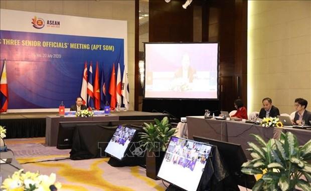 Visioconference des hauts fonctionnaires de l'ASEAN + 3 hinh anh 1