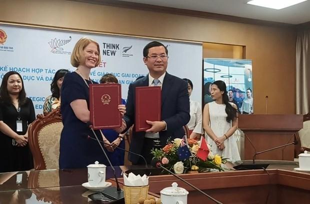 Vietnam et Nouvelle-Zelande renouvellent leur plan d'engagement strategique sur l'education hinh anh 1