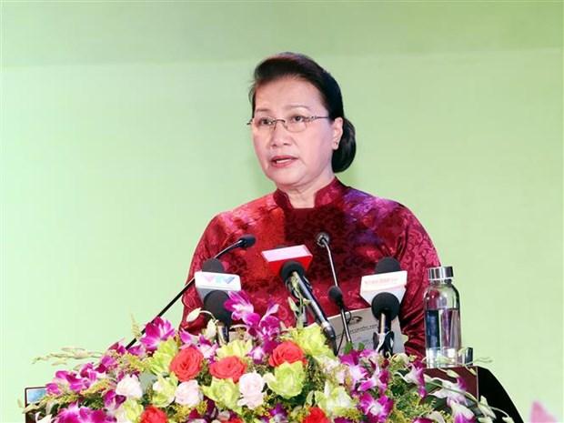 La presidente de l'AN rend hommage aux meres heroines et aux martyrs hinh anh 1