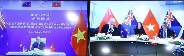 Le Vietnam et la Nouvelle-Zelande publient une declaration de partenariat strategique hinh anh 1