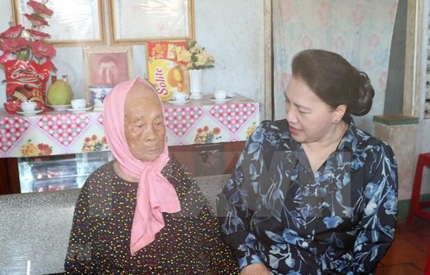 La presidente de l'AN effectue une visite de travail a Ba Ria-Vung Tau hinh anh 1