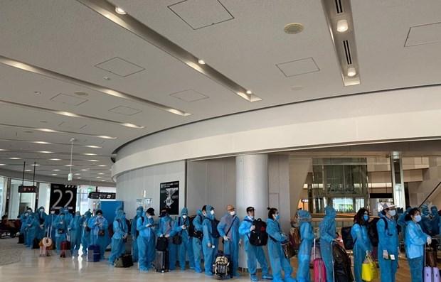 COVID-19 : plus de 190 Vietnamiens rapatries du Japon hinh anh 1