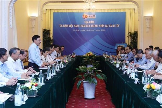 Colloque sur les 25 ans d'adhesion du Vietnam a l'ASEAN hinh anh 1