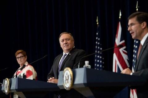 L'AUSMIN 2020 denonce les revendications territoriales de la Chine hinh anh 1