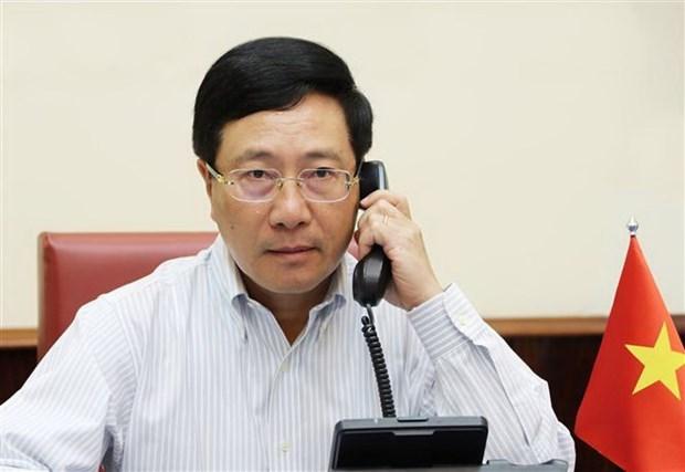 Vietnam-Etats-Unis : conversation telephonique entre les chefs de la diplomatie hinh anh 1