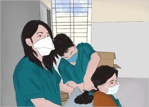 La lutte contre le coronavirus dessinee par une etudiante de Da Nang hinh anh 2
