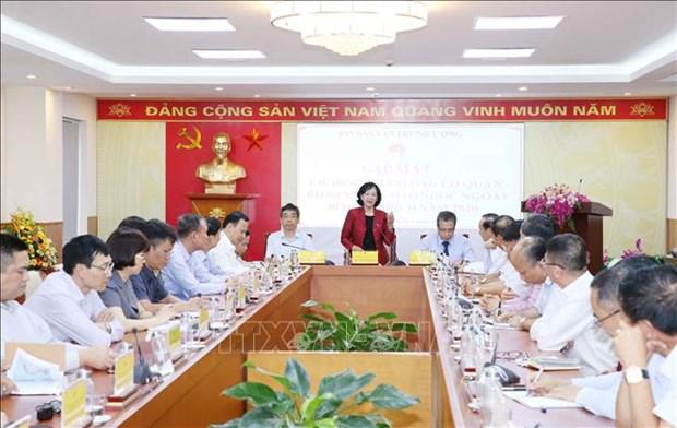 Rencontre de chefs des representations vietnamiennes a l'etranger pour le mandat 2020-2023 hinh anh 1