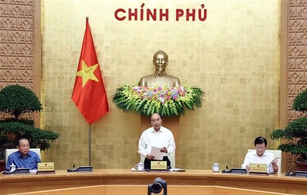 Le PM preside une reunion du gouvernement sur des projets de loi hinh anh 1