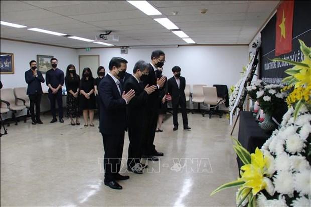Ceremonies d'hommage a Le Kha Phieu a l'etranger hinh anh 1
