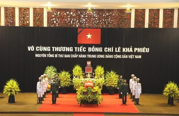Ceremonie en hommage de l'ancien secretaire general du Parti Le Kha Phieu hinh anh 1