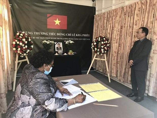 Hommage posthume a l'ancien Secretaire general Le Kha Phieu en Inde, aux Philippines et en Tanzanie hinh anh 1